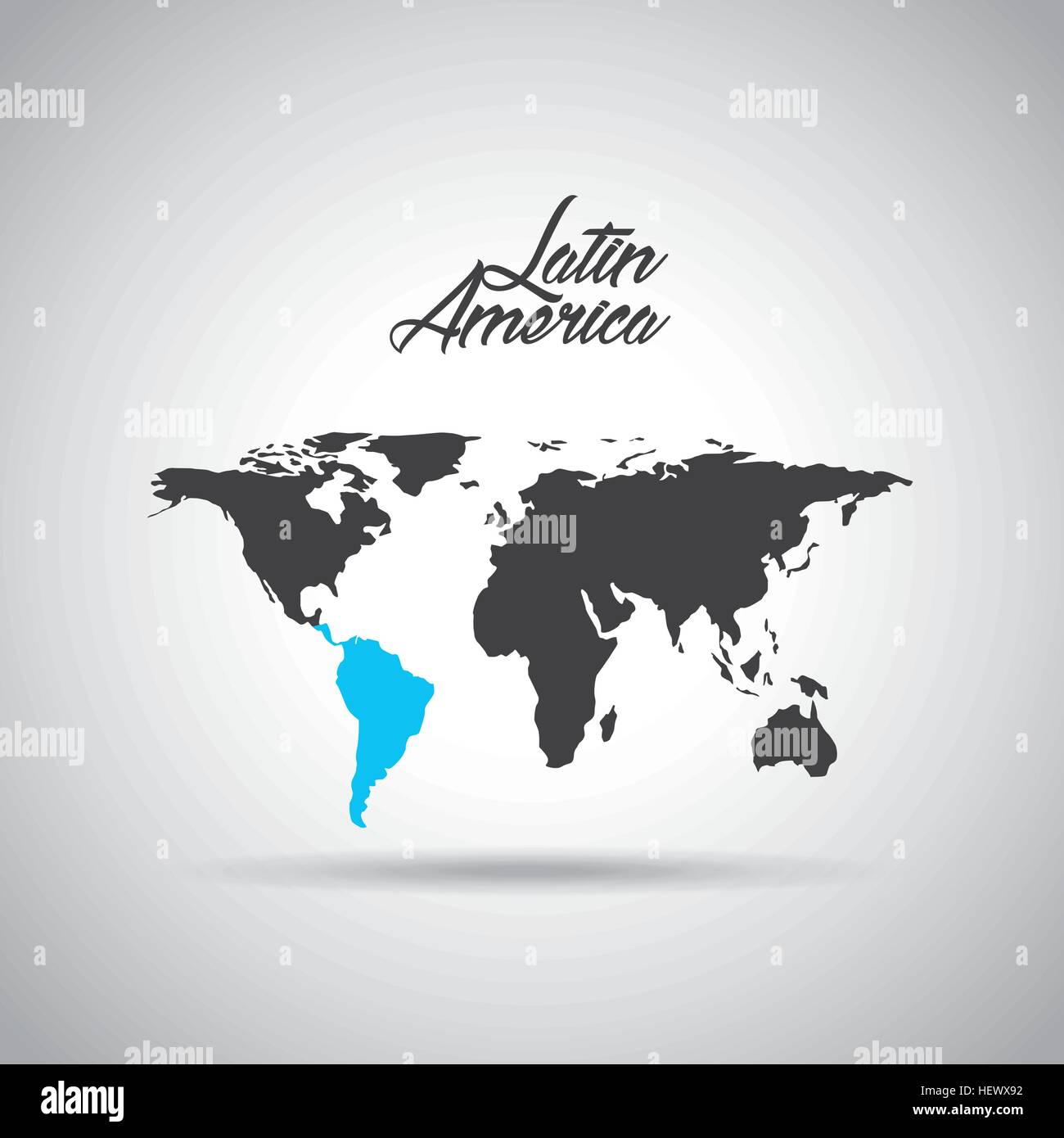 World map with latin america map in blue color icon over white stock world map with latin america map in blue color icon over white background vector illustration gumiabroncs Images