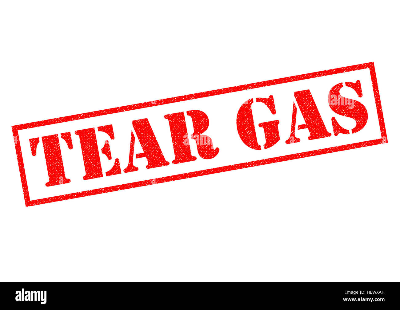 TEAR GAS red Rubber Stamp over a white background. - Stock Image