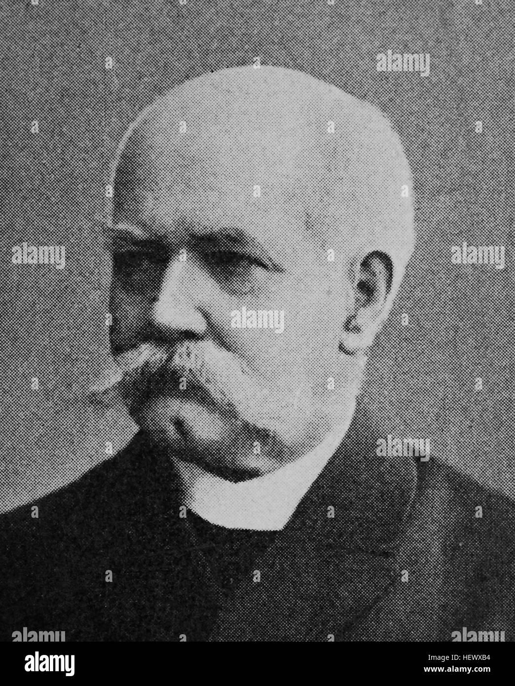 Albert Karl Friedrich Wilhelm von Boguslawski, 1834 - 1905, Prussian General, Military writer, picture from 1895, - Stock Image