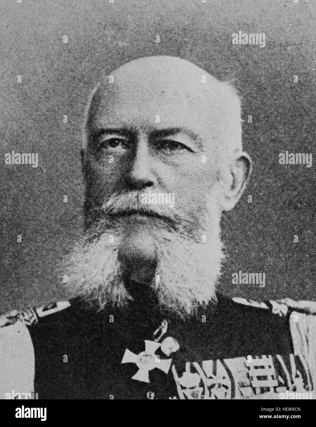 Oscar von Lettow-Vorbeck, born 1839, Military writer, picture from 1895, digital improved - Stock Image