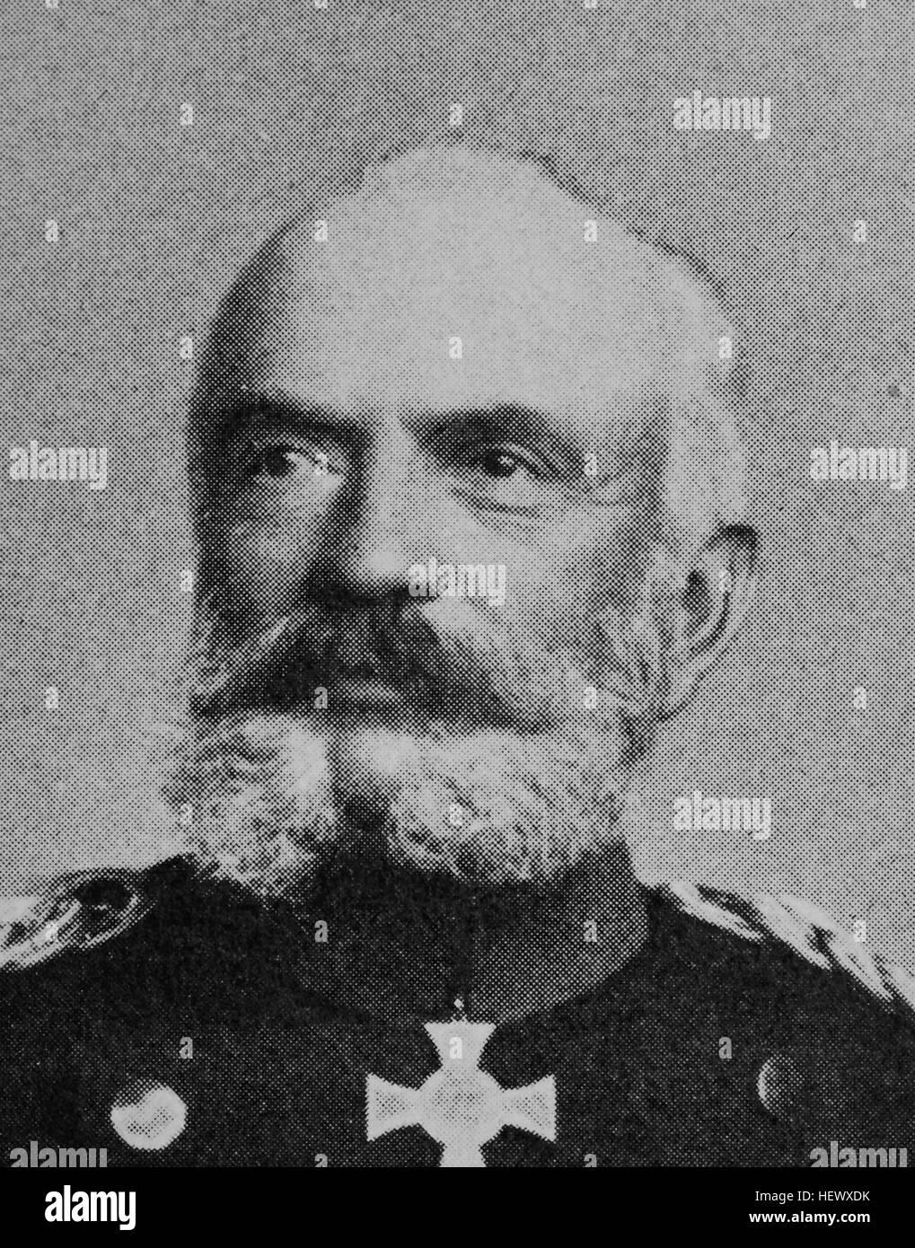 Sigismund Wilhelm Lorenz von Schlichting, October 3, 1829 - October 22, 1909, was a Prussian general and military - Stock Image