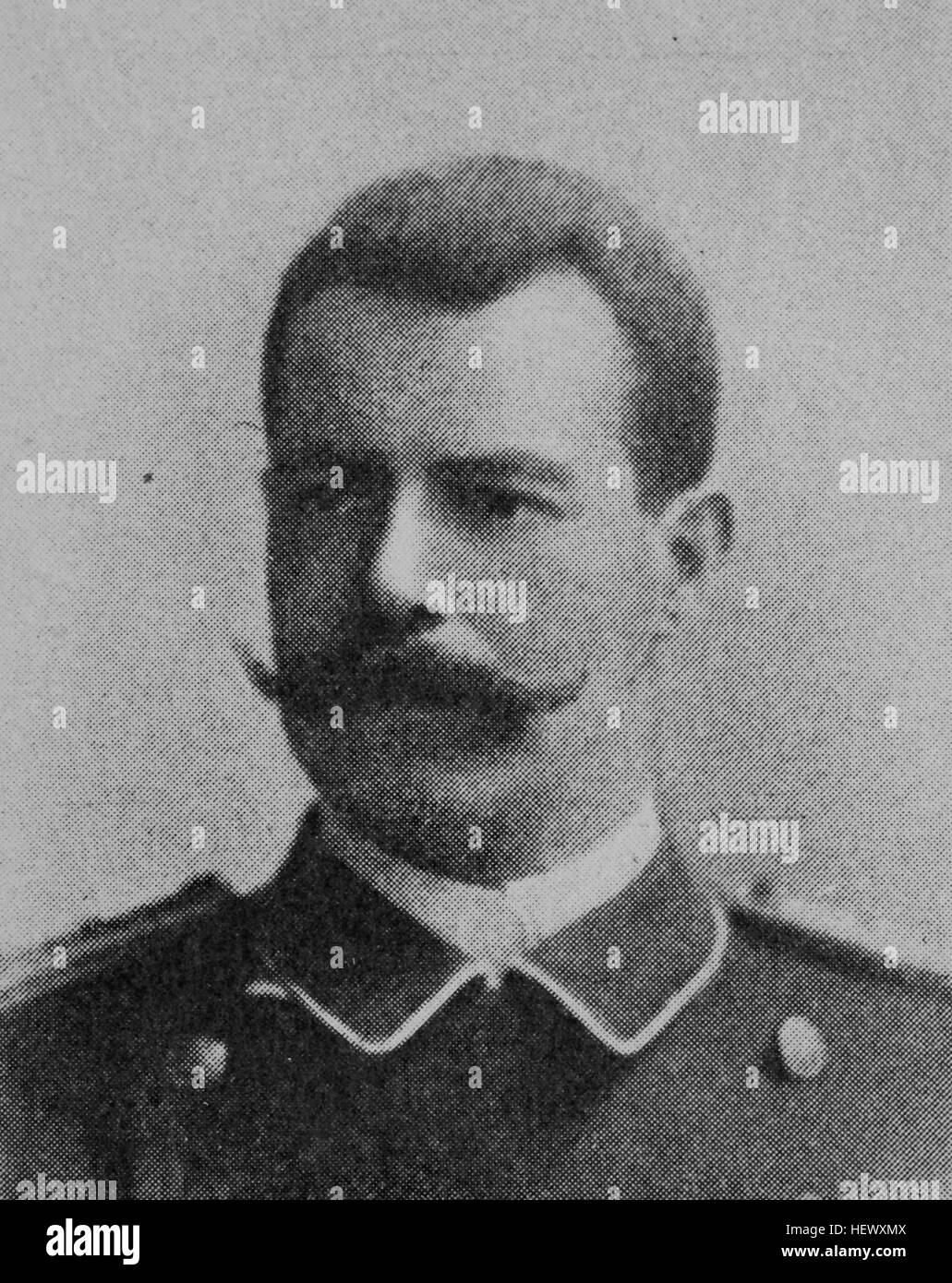 Tom von Prince, Tom Prince, 1866 - 1914. german Colonialist, plantation owners and officer of the colonial force - Stock Image