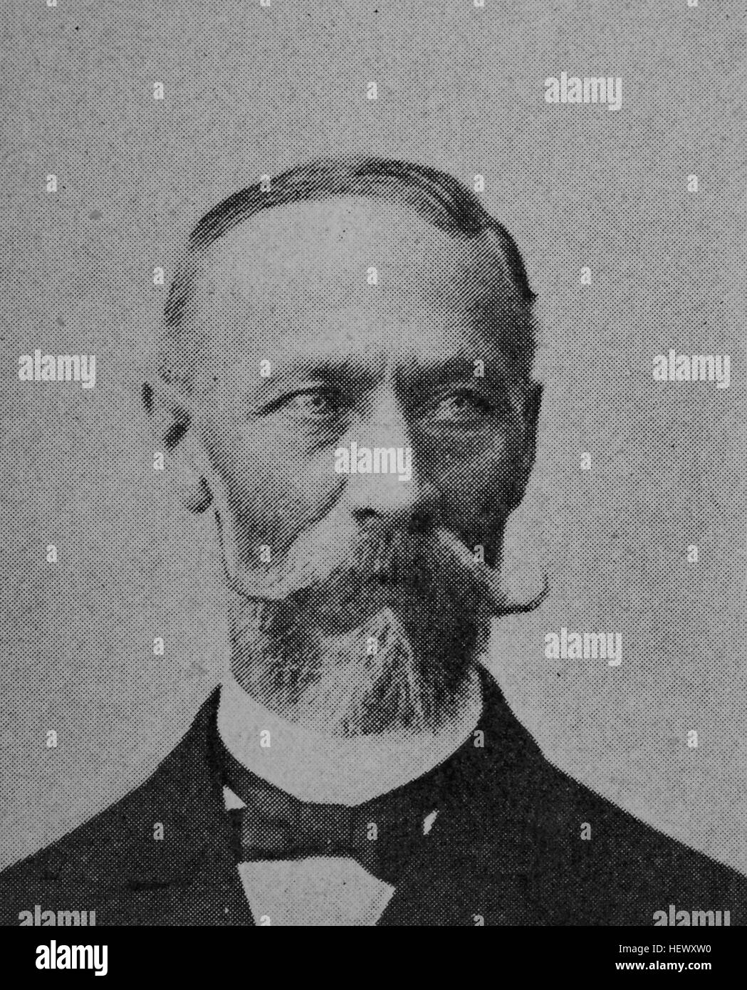 Albert Ritzler, born 1836, Main Post Office director, picture from 1895, digital improved Stock Photo