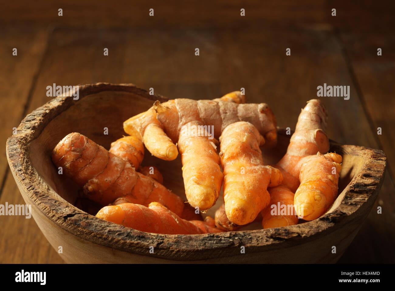 Fresh turmeric root - Stock Image