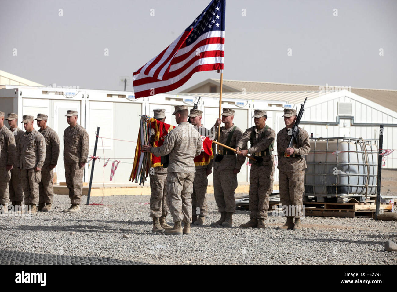 Lt. Col. Michael Mooney, commanding officer of 1st Reconnaissance Battalion, 1st Marine Division (Forward), and - Stock Image