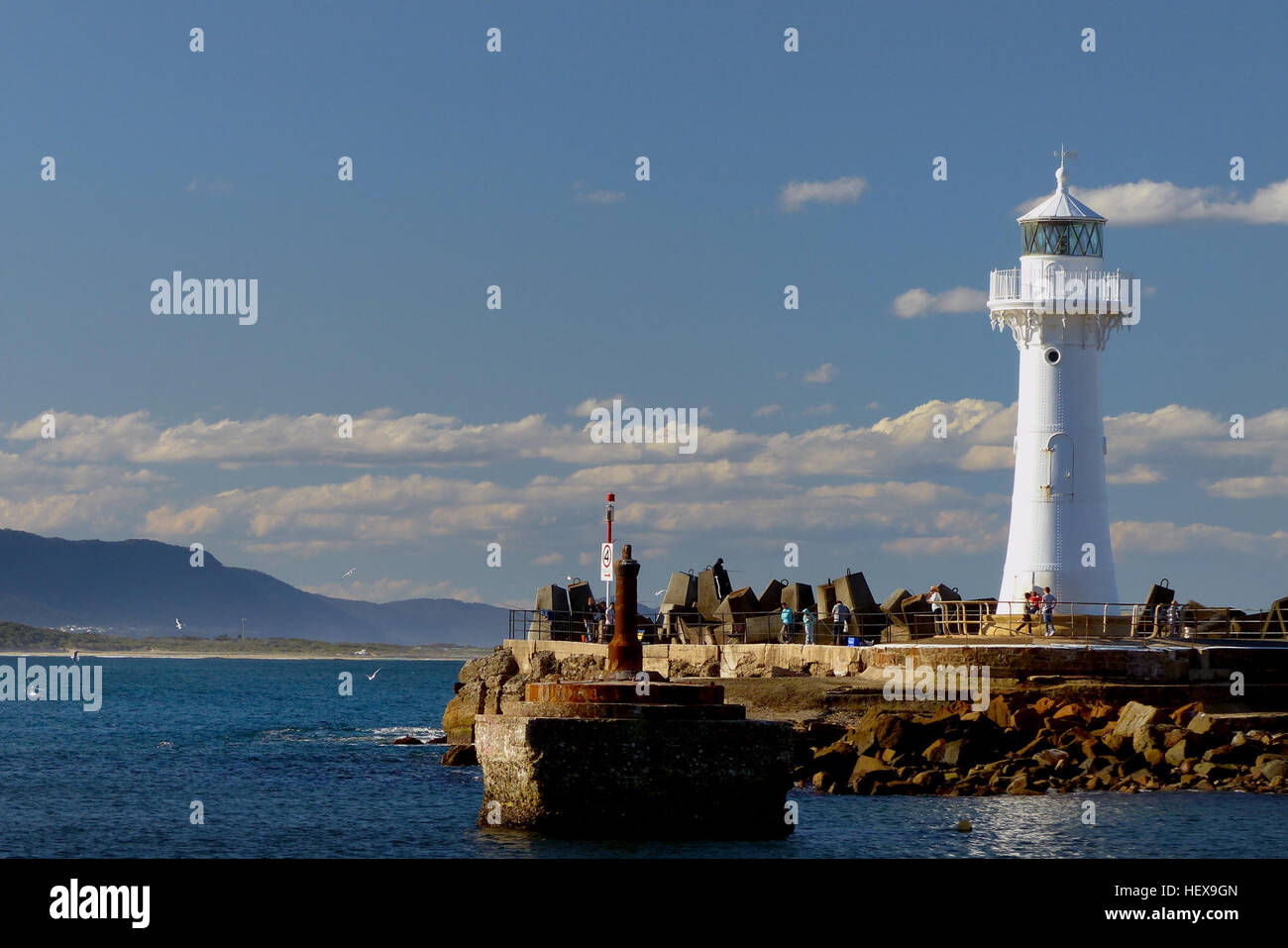 Wollongong Breakwater Lighthouse Year first lit 1872 Deactivated 1974 Wollongong Breakwater Lighthouse, also known - Stock Image