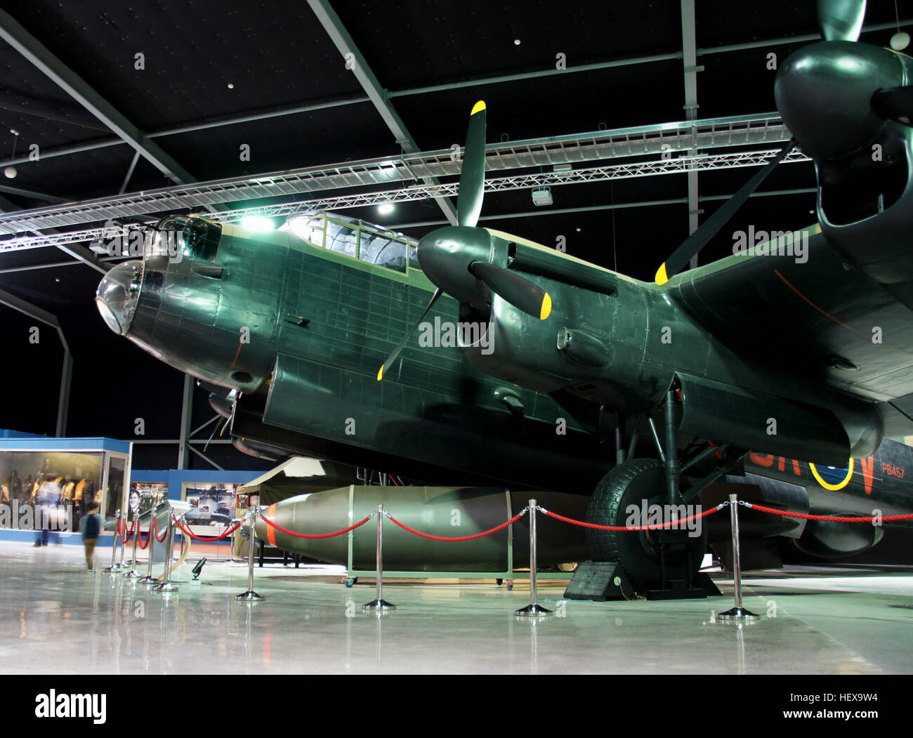 The Lancasters took part in many raids on Germany in World War Two. They were also used in specific raids such as Stock Photo