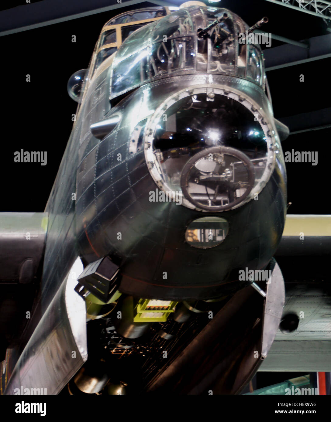 A long, unobstructed bomb bay meant that the Lancaster could take even the largest bombs used by the RAF, including, - Stock Image