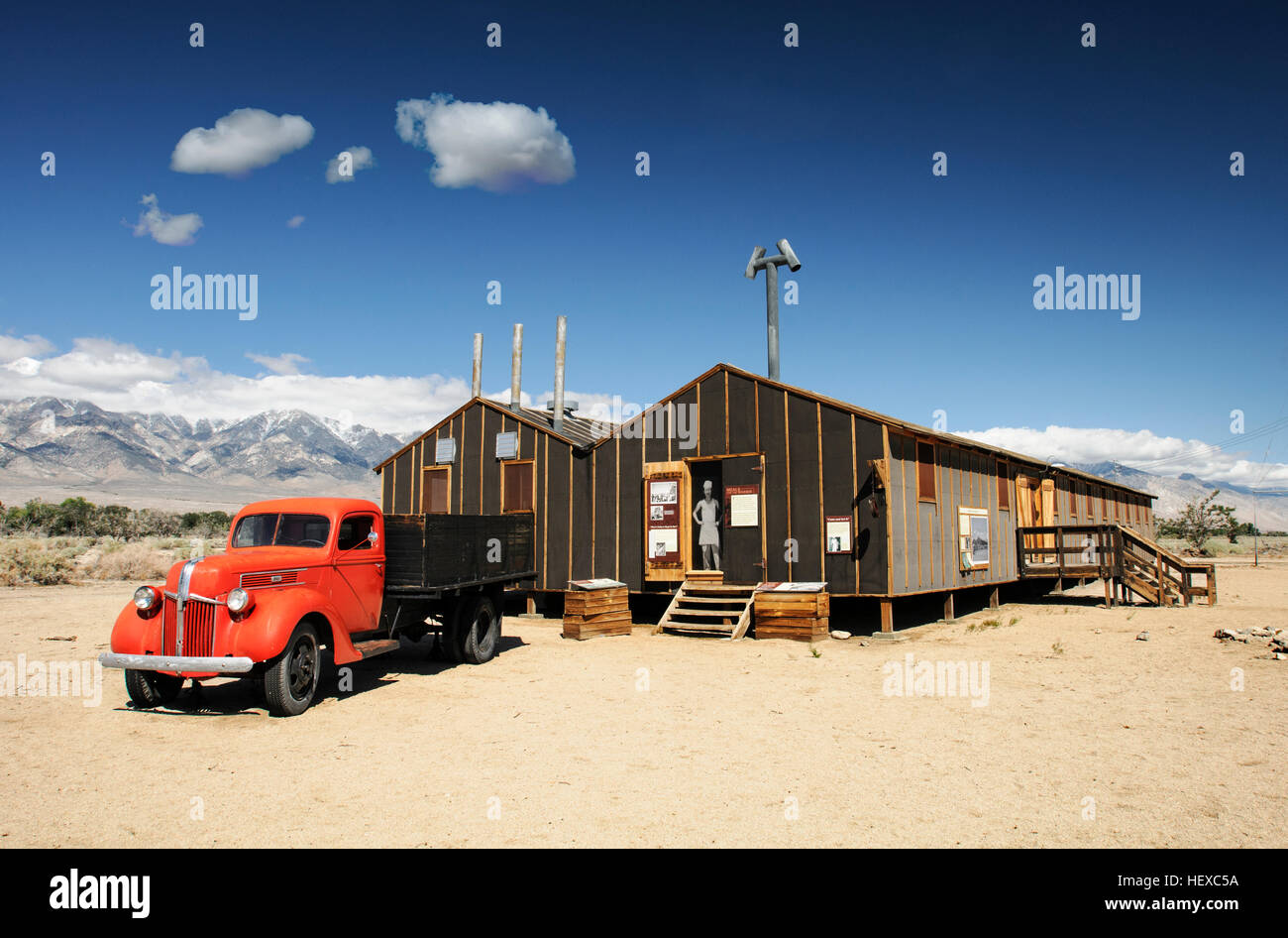 Preserved Cook House and Mess Hall,  Manzanar Internment Camp, California - Stock Image
