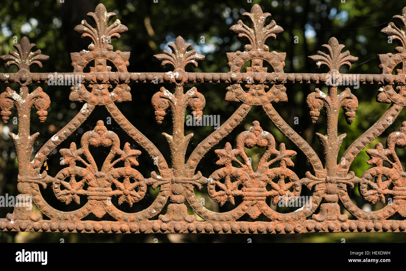 Ornate metalwork. - Stock Image