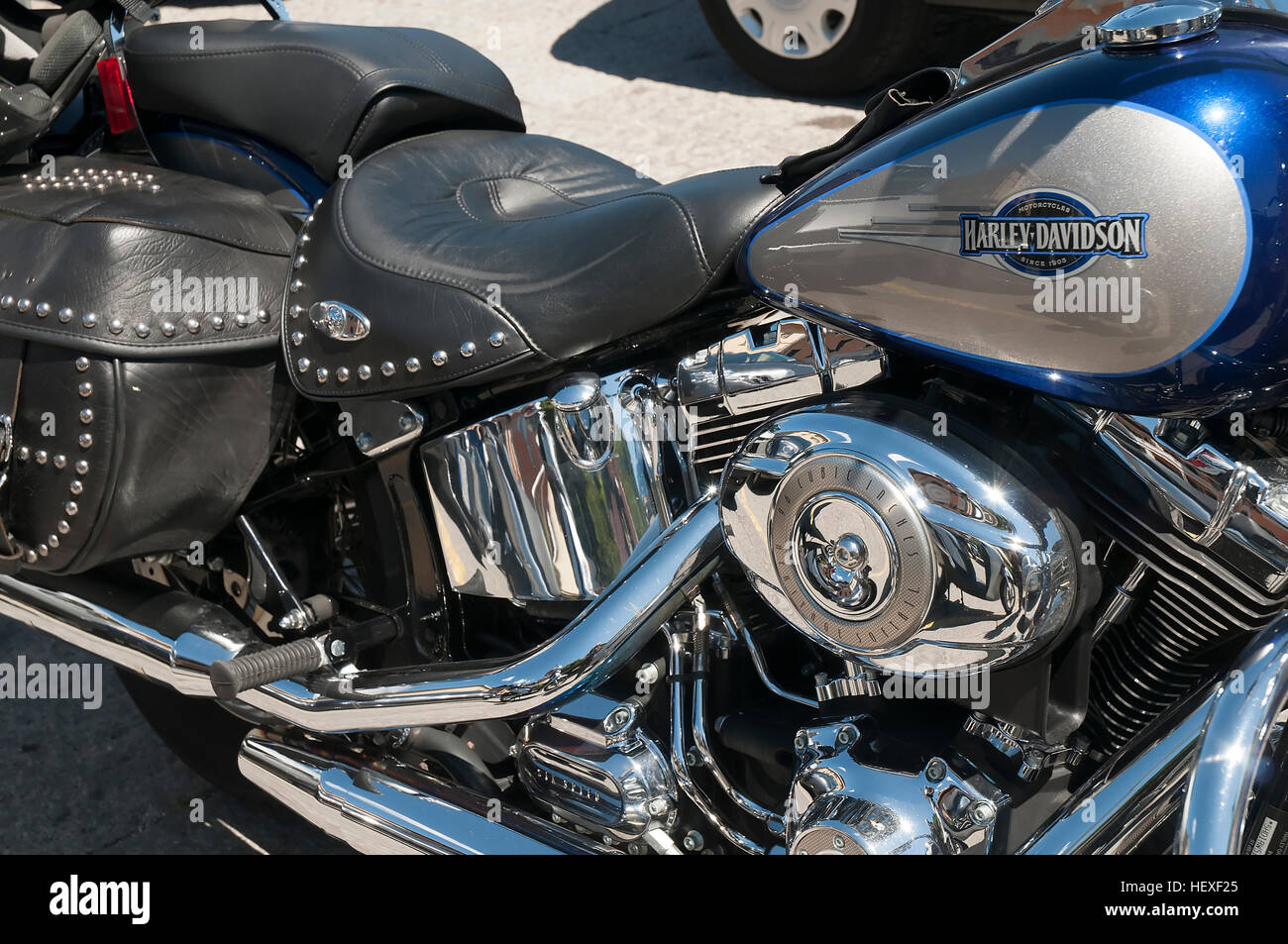 harley davidson heritage softail motorcycle stock photos. Black Bedroom Furniture Sets. Home Design Ideas