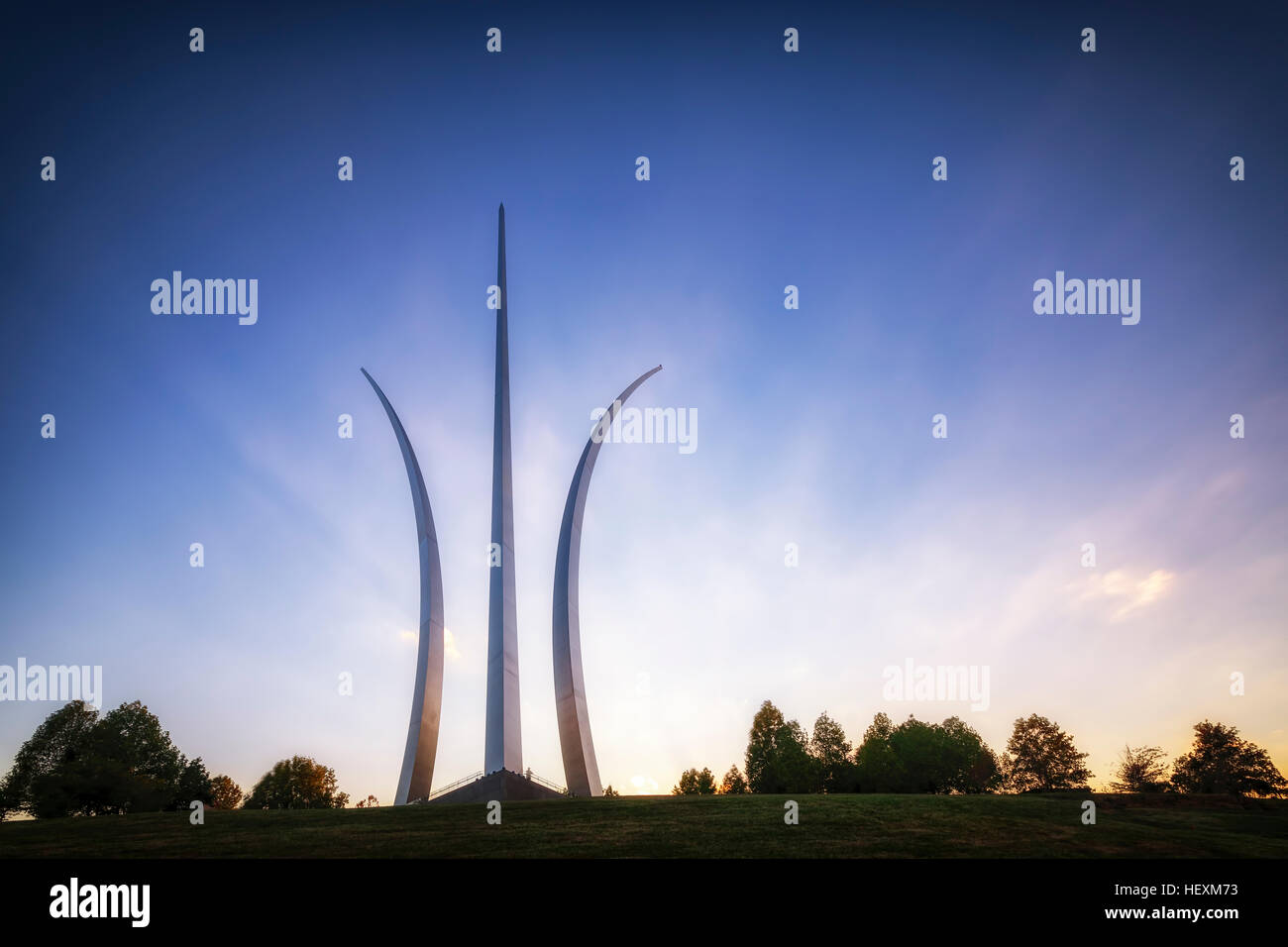 USA, Virginia, Arlington, United States Air Force Memorial - Stock Image