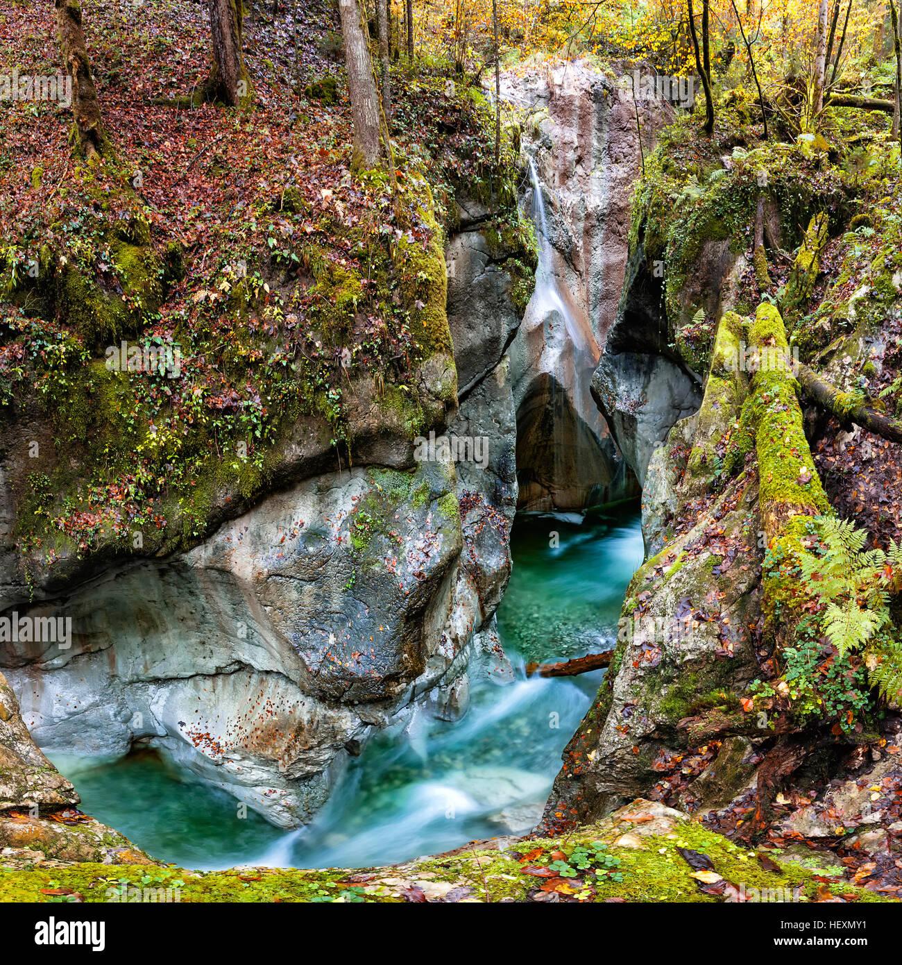 Austria, Tennegau, Taugl river at Strubklamm gorge Stock Photo