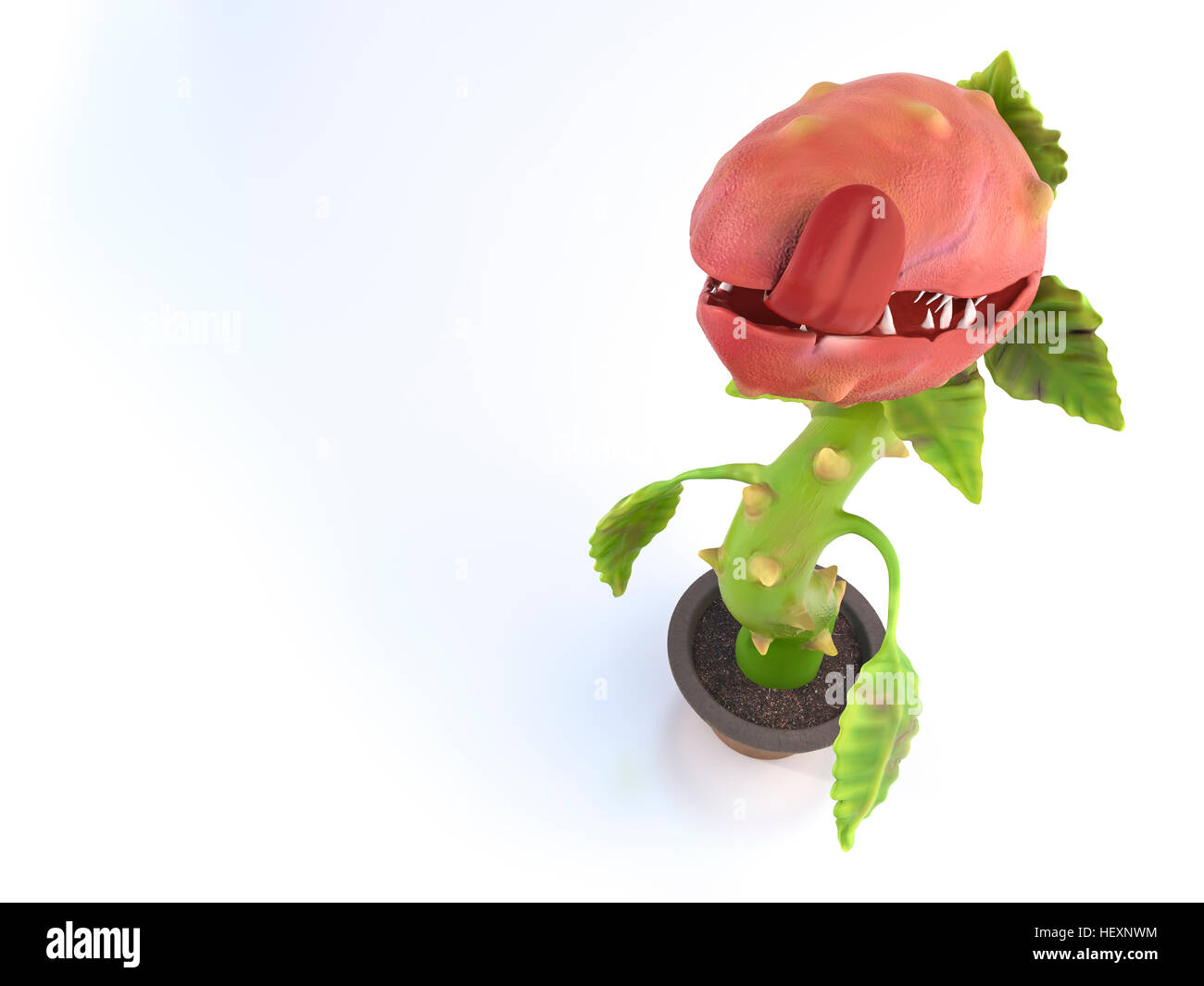 Hungry carnivorous plant - Stock Image