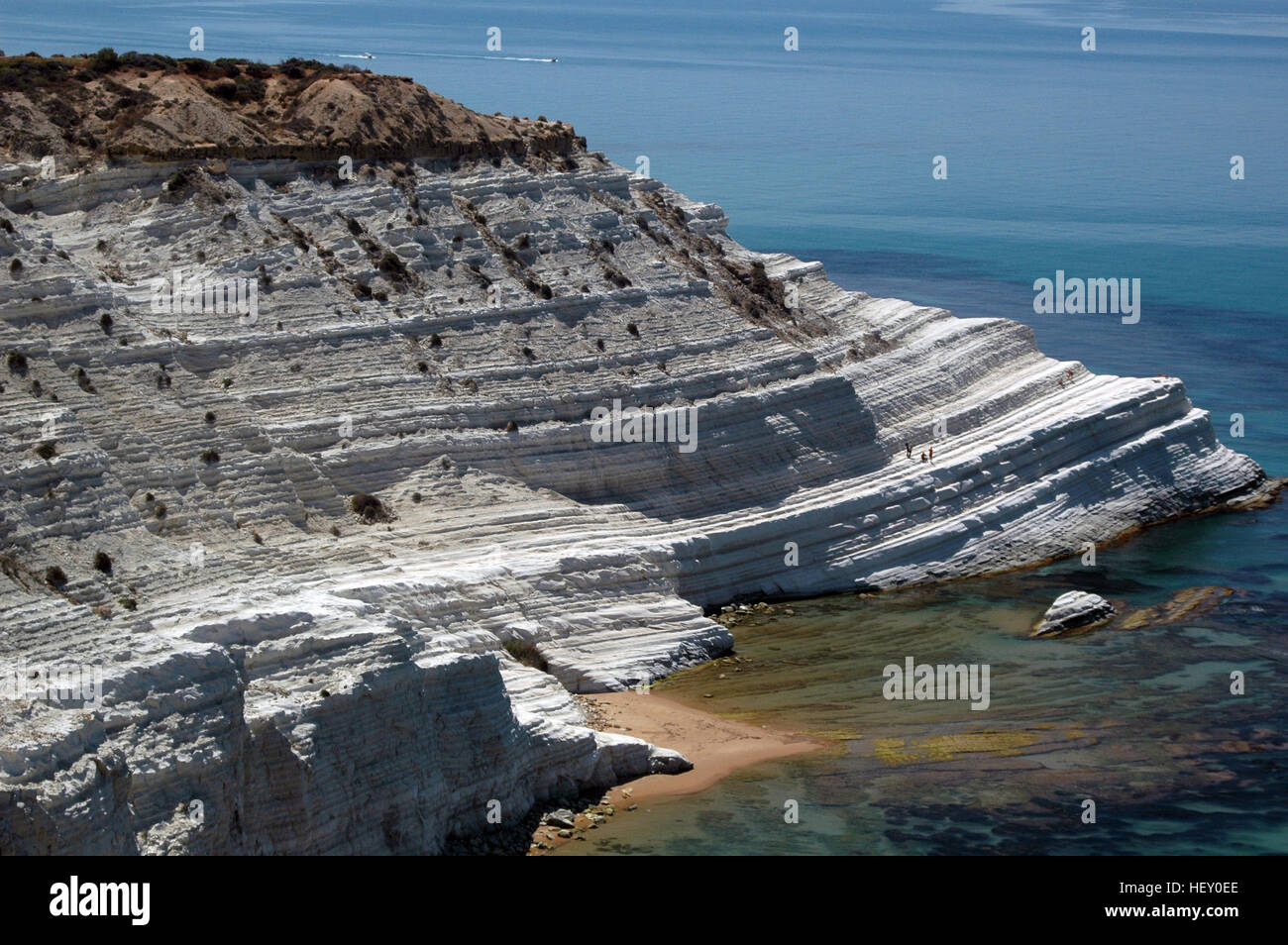 Scala dei Turchi (Stair of the Turks), Realmonte, Sicily, Italy - Stock Image