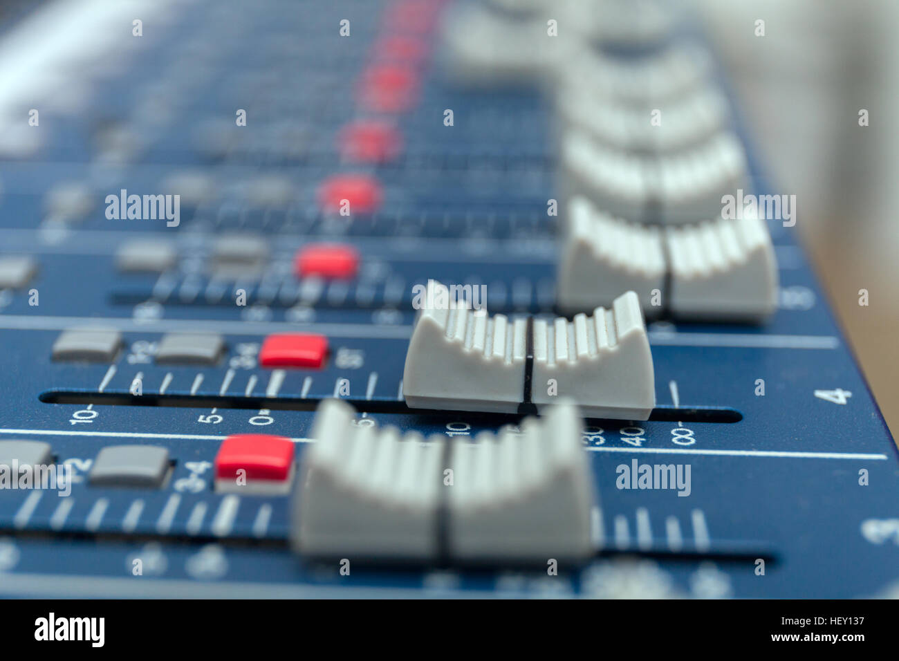 Audio Mixer Table Stock Photos Images Alamy Circuit Compact Volume Pan Amplifier Equipment Sound Acoustic Musical Mixing Engineering Concept Background Selective Focus
