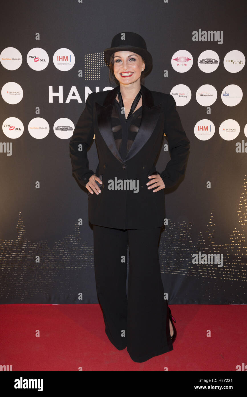 Celebrities attending the Hans Award 2016 at Club Markthalle  Featuring: Sandra Cazzato Where: Hamburg, Germany - Stock Image