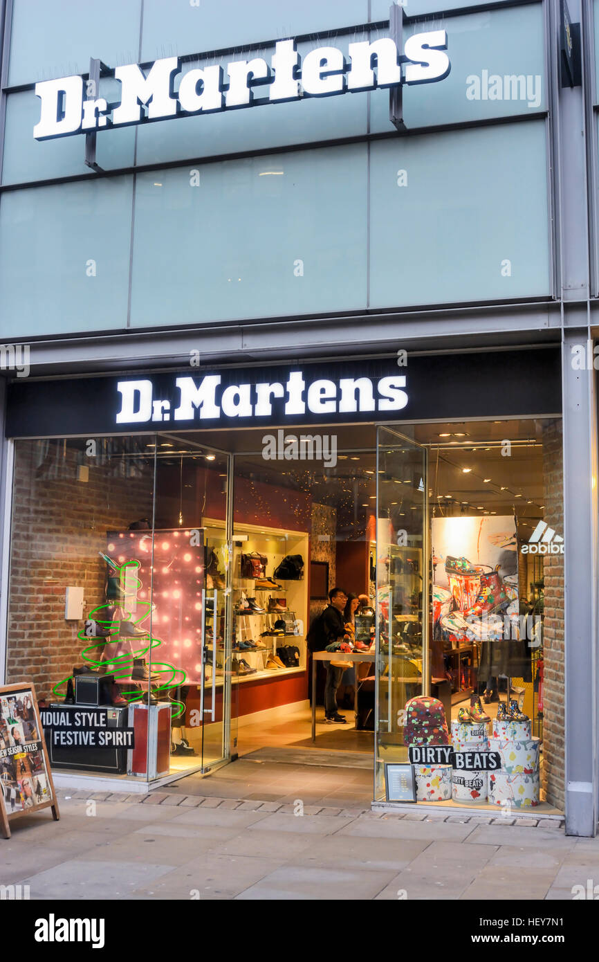 cost charm huge sale 100% high quality Dr. Martens shoe store in Market Street, Manchester Stock ...
