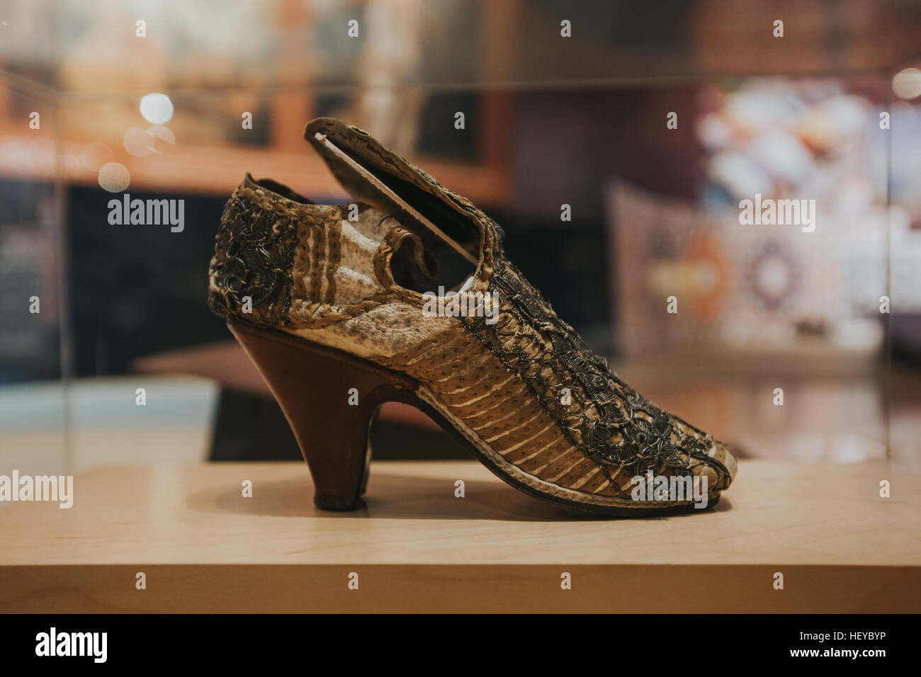 Baroque and Rococo - The near eastern heel emerged in western fashion the late 16th cenury and was worn by wealthy - Stock Image