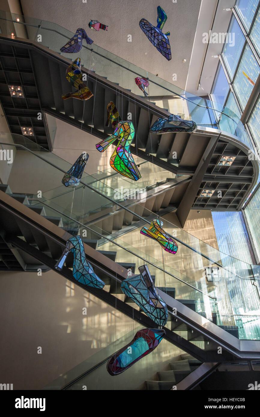 Toronto bata shoe museum stair way - Stock Image