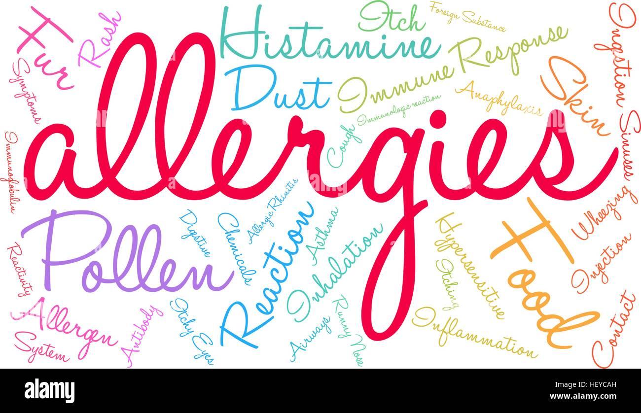 Hasil carian imej untuk alergic word