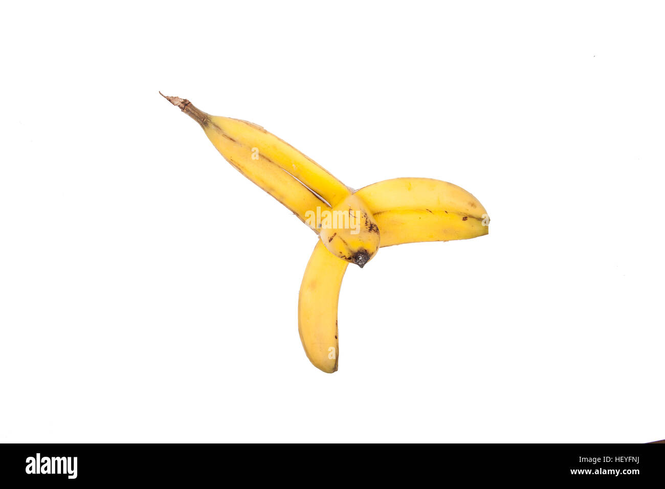 Banana peel isolated - Stock Image