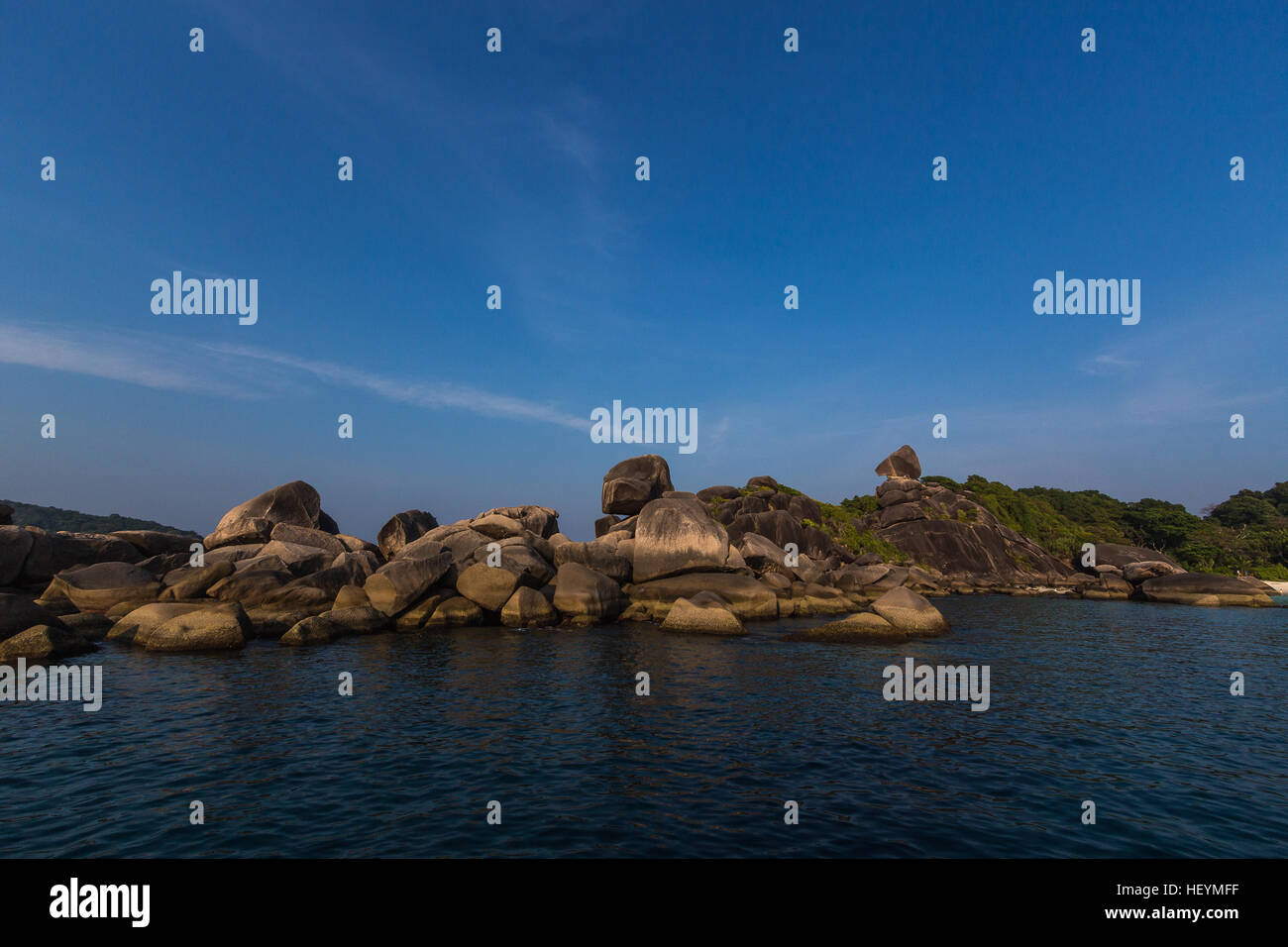 Viewpoint of Similan Islands National Park - Stock Image