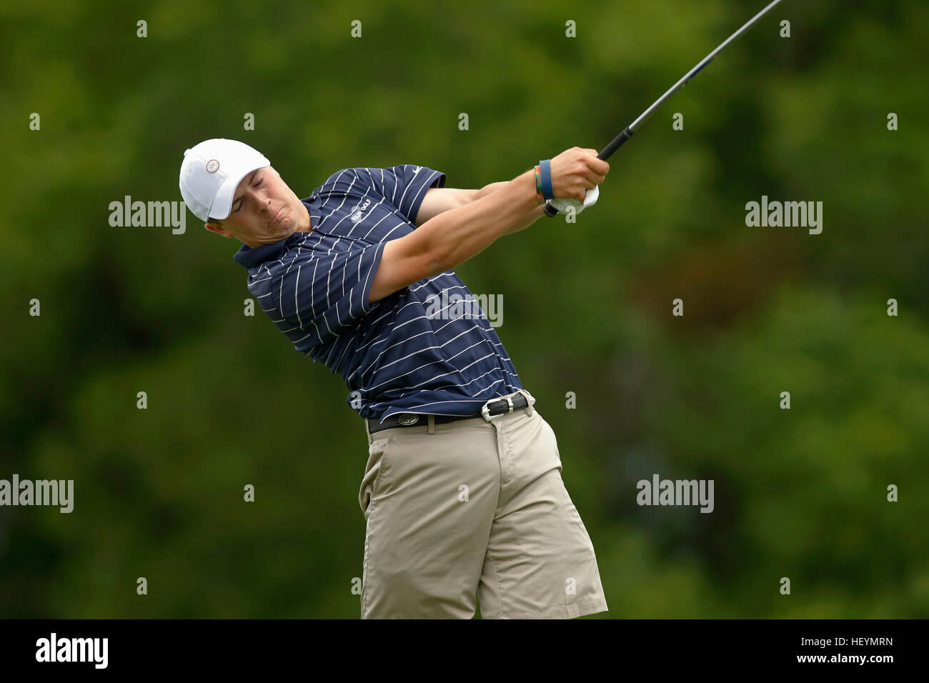Jordan Spieth plays for Dallas Jesuit in the 2011 UIL Texas State 5A Division Golf Championship in Austin, Texas. Stock Photo