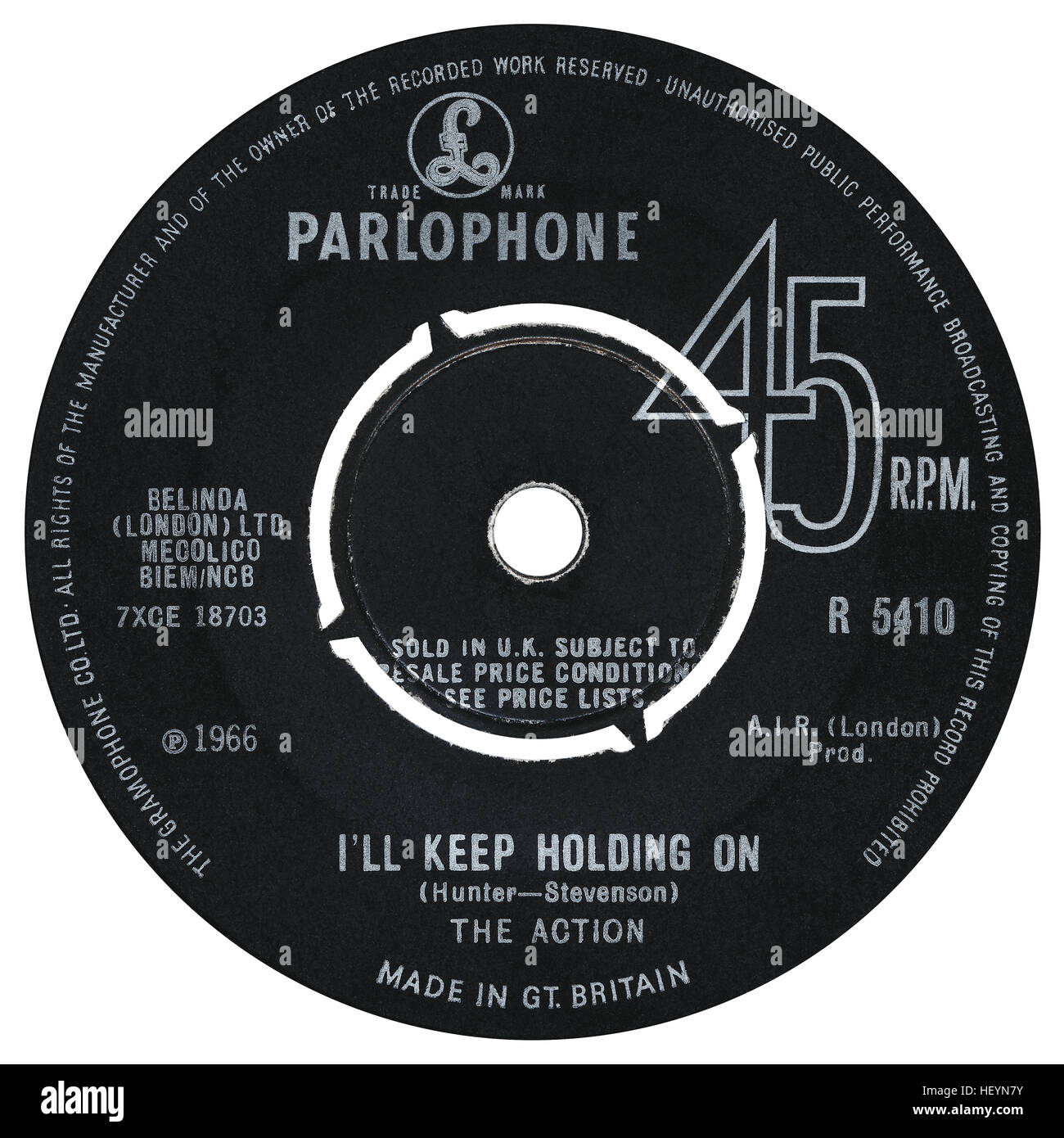 45 Rpm 7 Quot Uk Record Label Of I Ll Keep Holding On By The