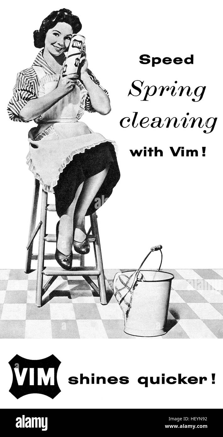 50s Housewife Black and White Stock Photos & Images - Alamy