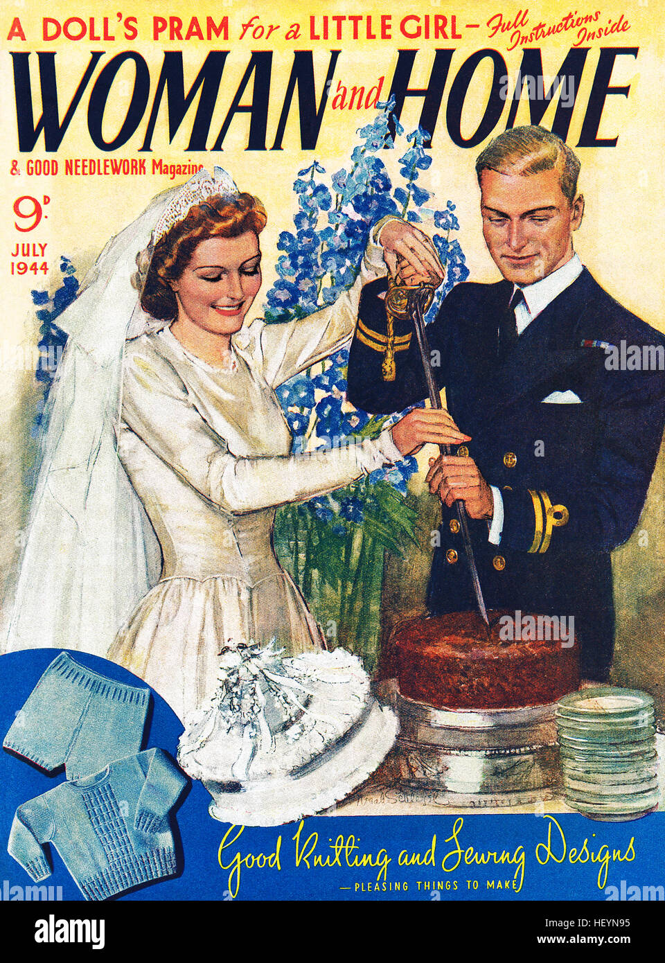Front cover of Woman And Home magazine for July 1944 - Stock Image