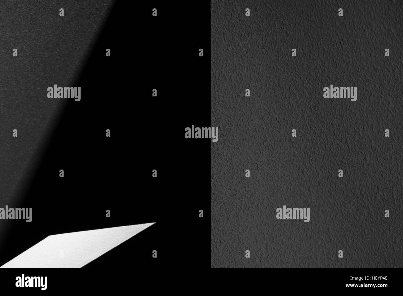 Abstract shapes interior home with light and dark angles wall and empty space - Stock Image