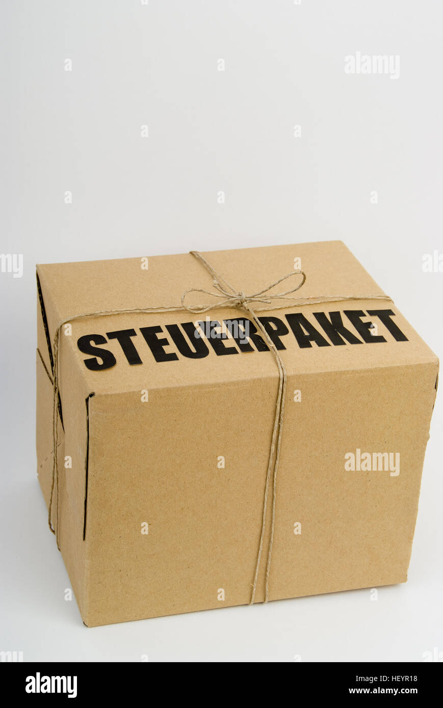 'Steuerpaket' - symbol for tax reforms - Stock Image