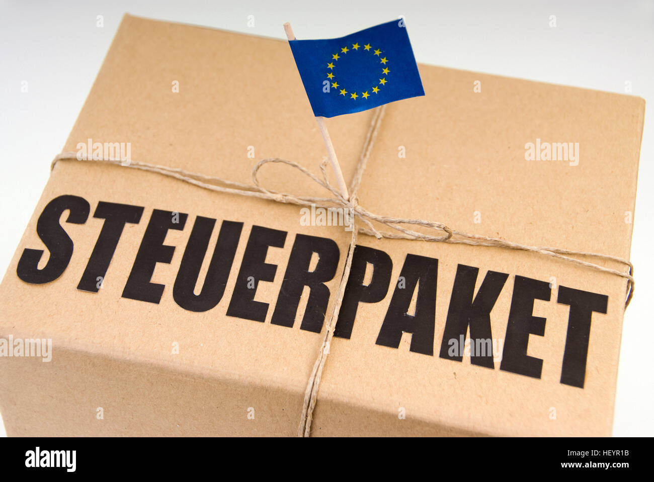 'Steuerpaket' - symbol for tax reforms in the European Union - Stock Image