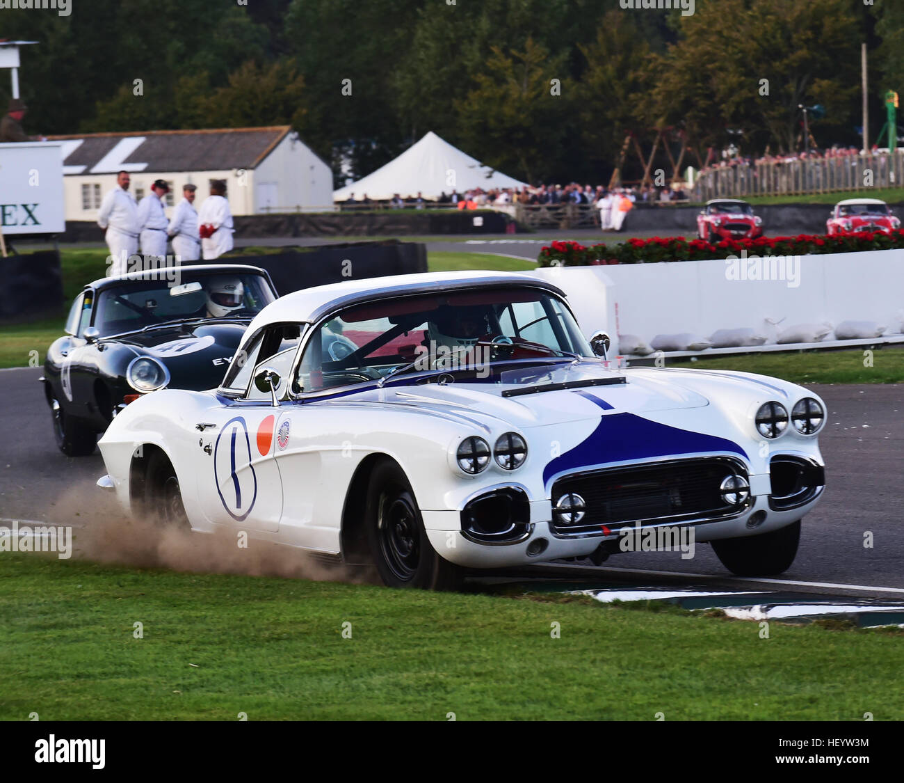 Charles Clegg Henry Arundel Chevrolet Corvette C1 Kinrara Trophy Stock Photo Alamy