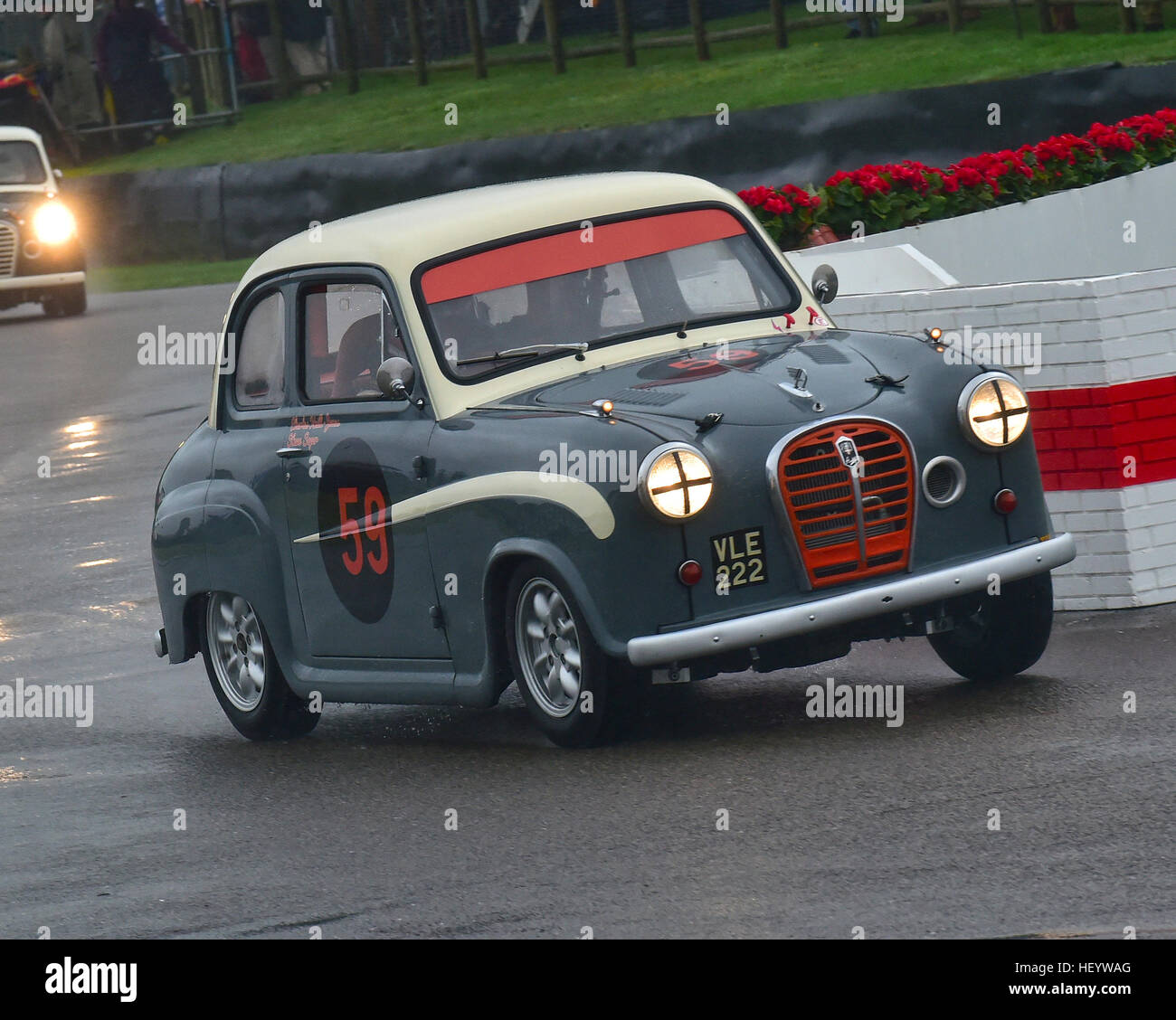Steve Soper, Charles Knill-Jones, Austin A35, St Mary's Trophy, Goodwood Revival 2016, 2016, classic cars, Goodwood, - Stock Image