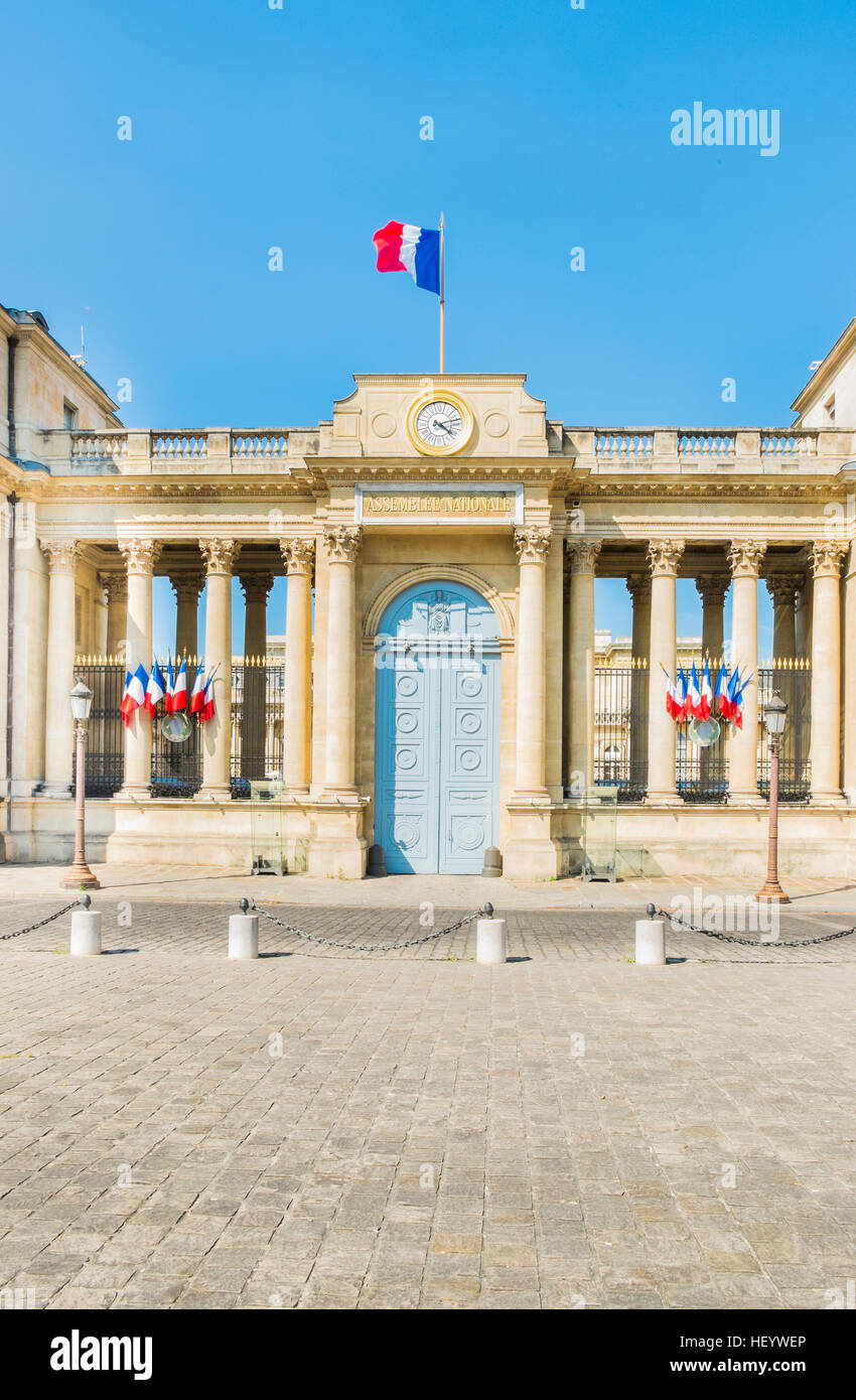 assemblee nationale, national assembly, outside view - Stock Image