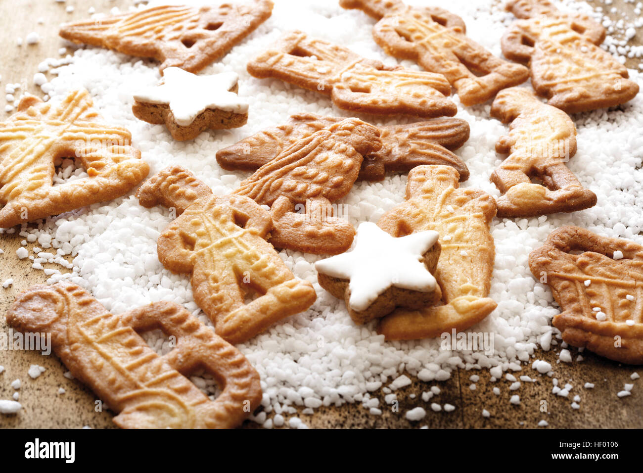 Assorted Speculaas Biscuits Dutch Cookies With Coarse Sugar And