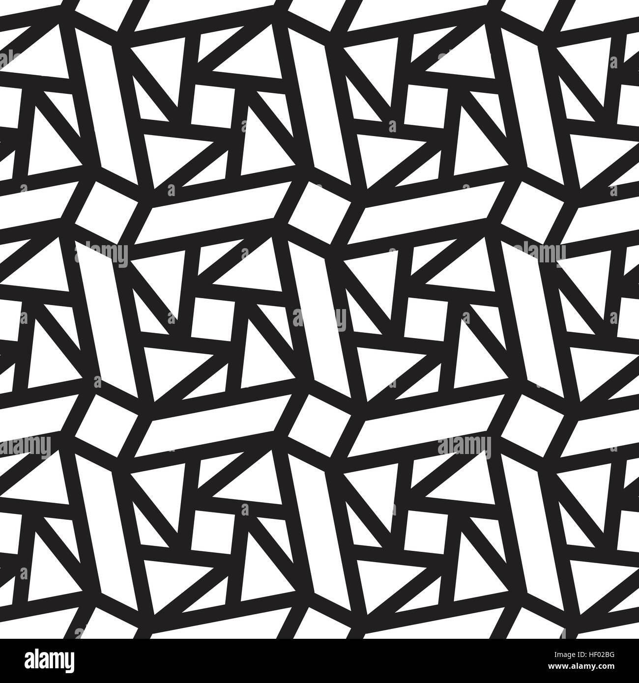 Abstract Vintage Geometric Lines Pattern Seamless Black And White