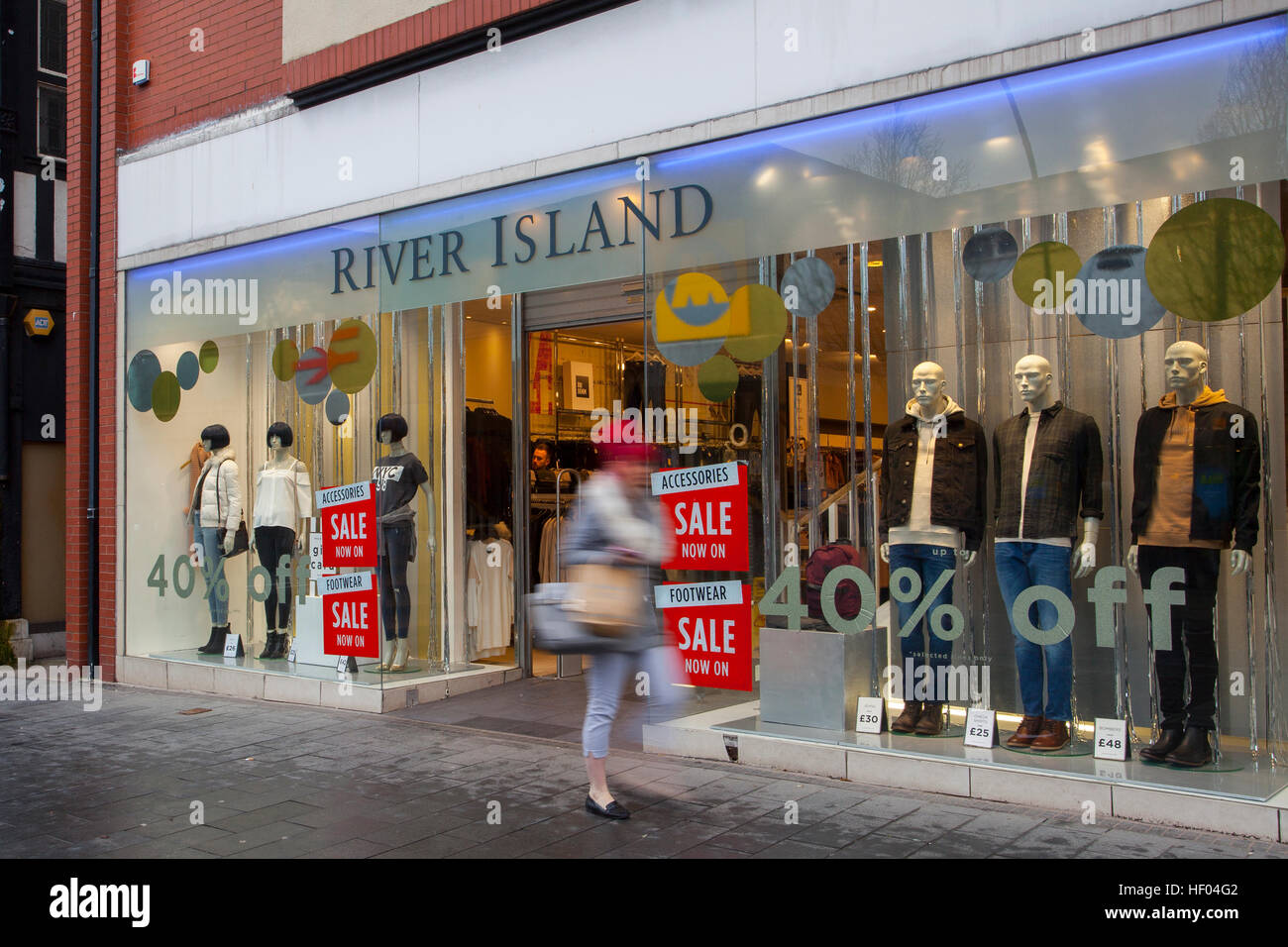 Southport, Merseyside, UK. 24th December, 2016. Pre Boxing Day Sales.   Stores in the town are now displaying tentative Stock Photo
