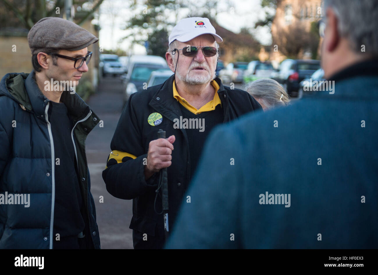 Stuttgart, Germany. 27th Dec, 2016. Dietrich Wagner (R) and Daniel Kartmann stand outside the State Ministry in - Stock Image
