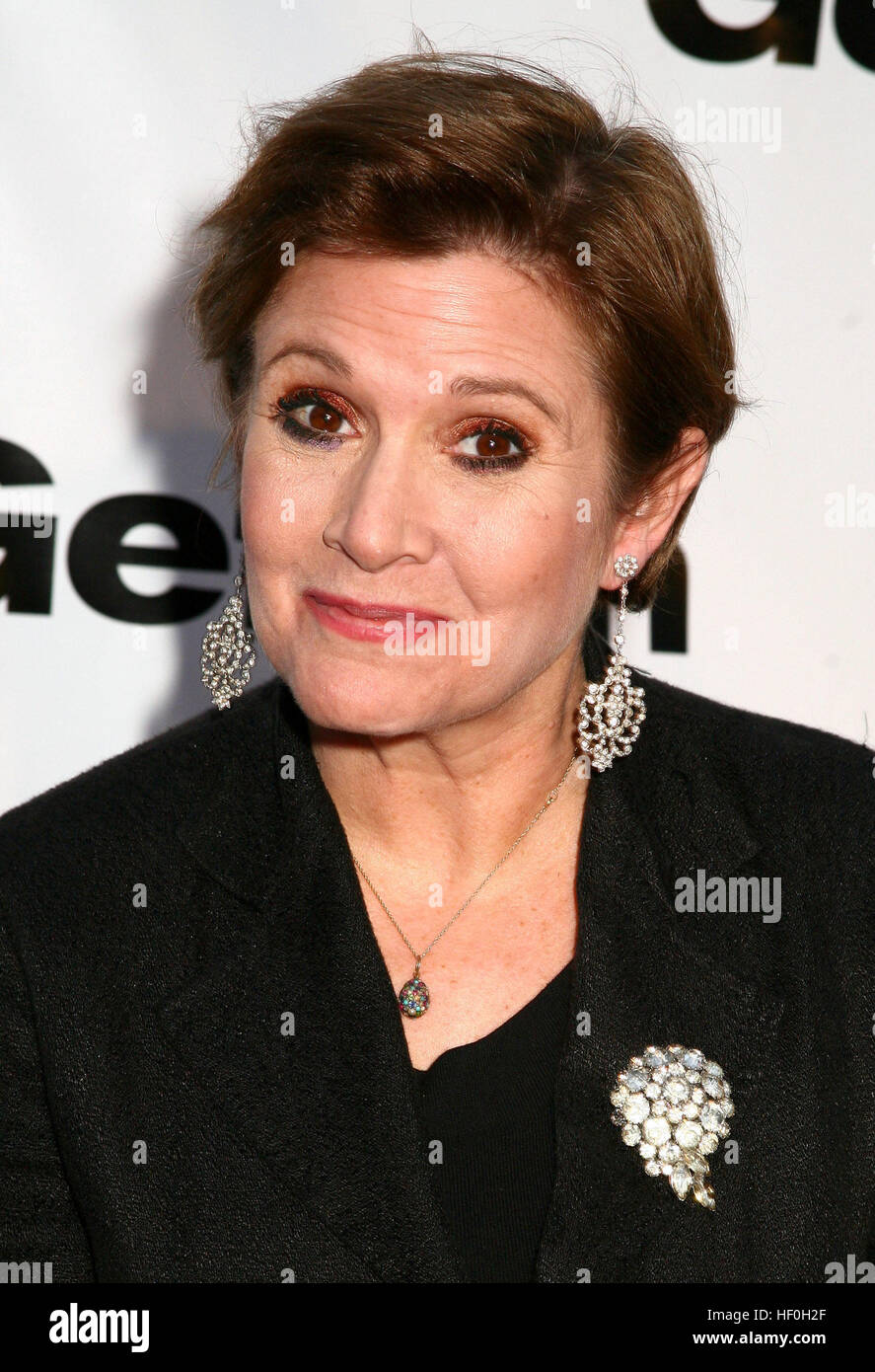 FILE PIC: Westwood, CA, USA. 27th Dec, 2016. 27 December 2016 - Carrie Fisher, the iconic actress who portrayed - Stock Image