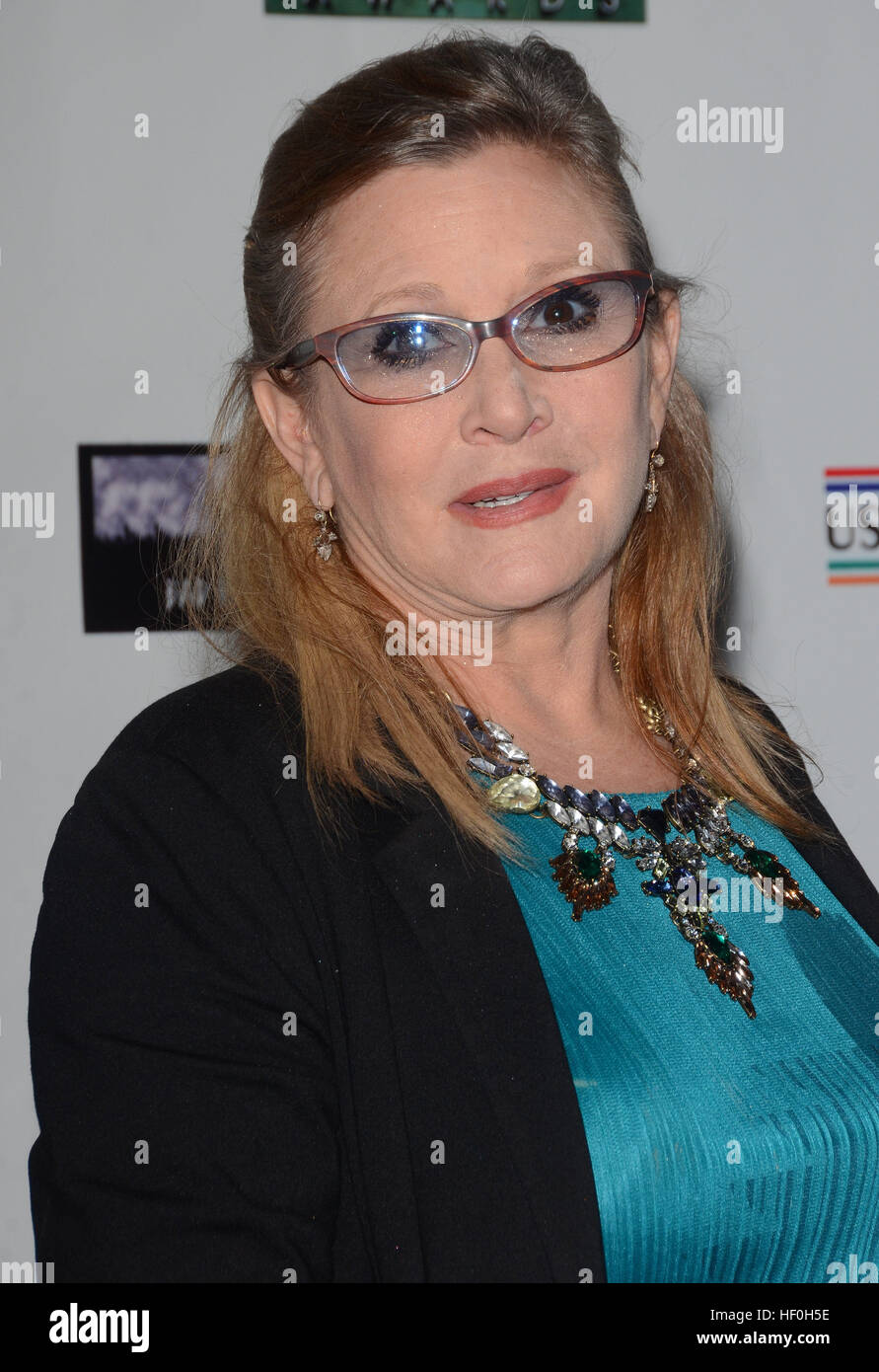 FILE PIC: Hollywood, CA, USA. 19th Feb, 2015. 27 December 2016 - Carrie Fisher, the iconic actress who portrayed - Stock Image