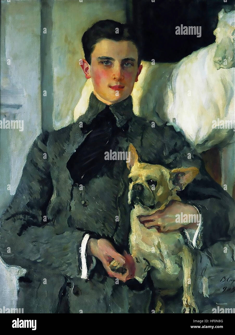 FELIX YUSUPOV (1887-1967) Russian aristocrat involved in the assassination of Rasputin painted by Valentin Serov - Stock Image