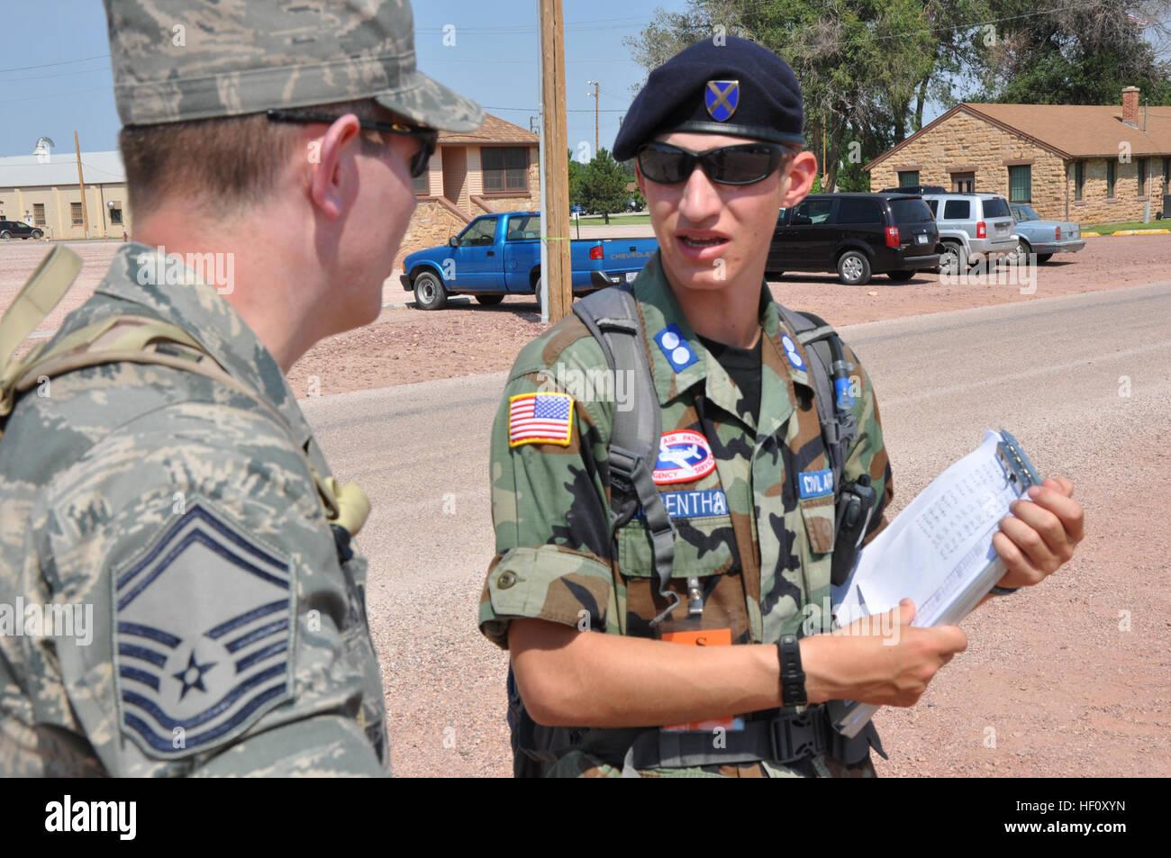 Civil Air Patrol Cadet 1st Lt. Isaac Hubenthal, 17, of Laramie, Wyo