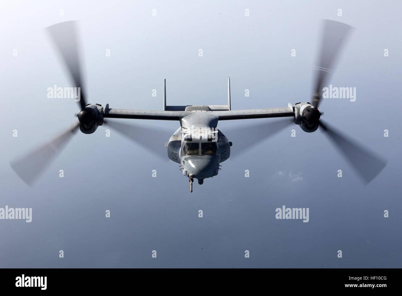 U.S. 5th FLEET AREA OF RESPONSIBILITY (Sept 23, 2012) – An MV-22B Osprey with Marine Medium Tiltrotor Squadron 261 Stock Photo