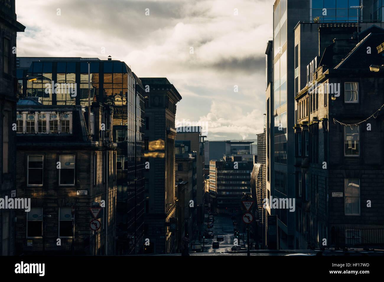 Downtown Glasgow, Scotland, United Kingdom - Stock Image