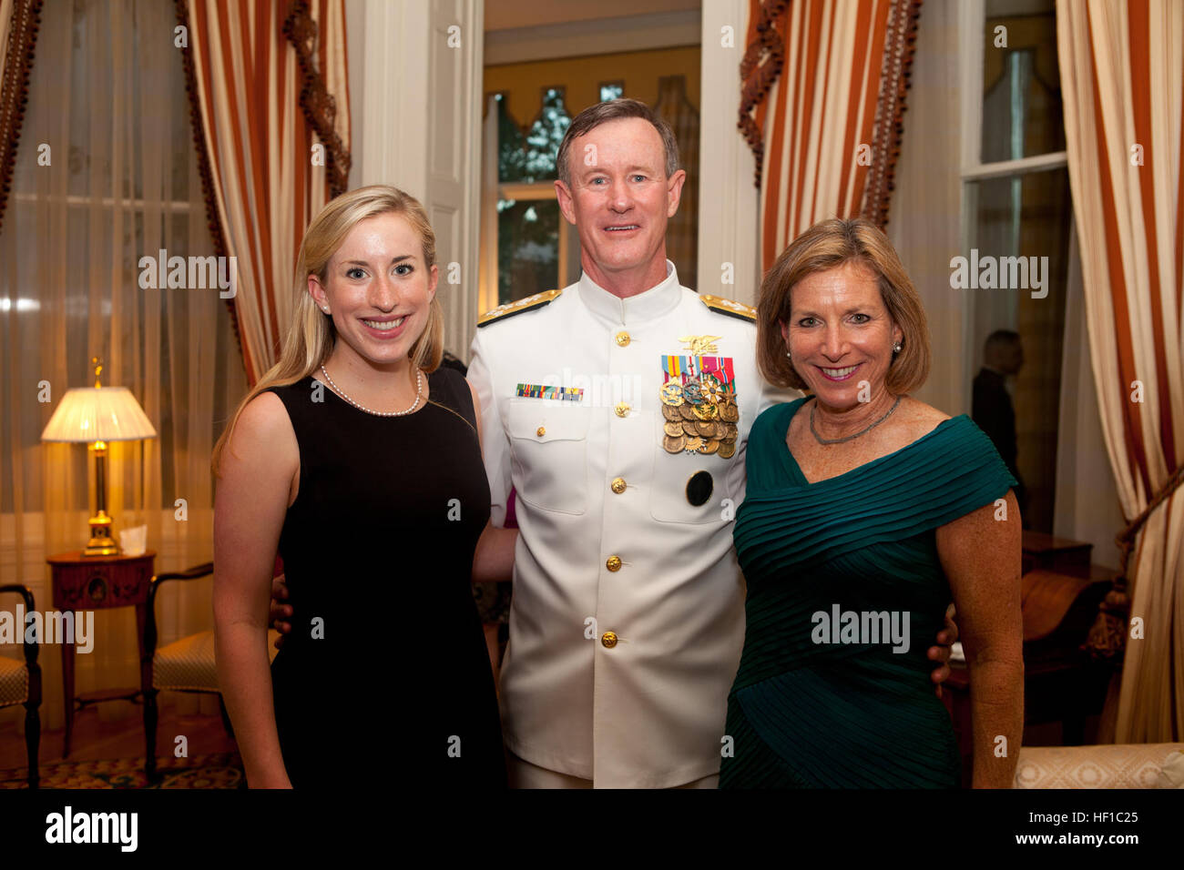 The Evening Parade guest of honor, Navy Adm. William H
