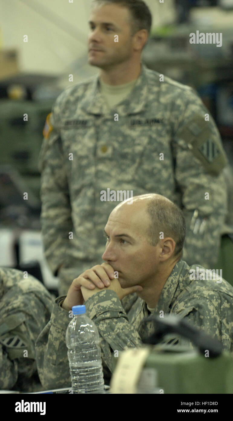 U S  Army Col  James Adams, deputy commander of the 2nd Brigade