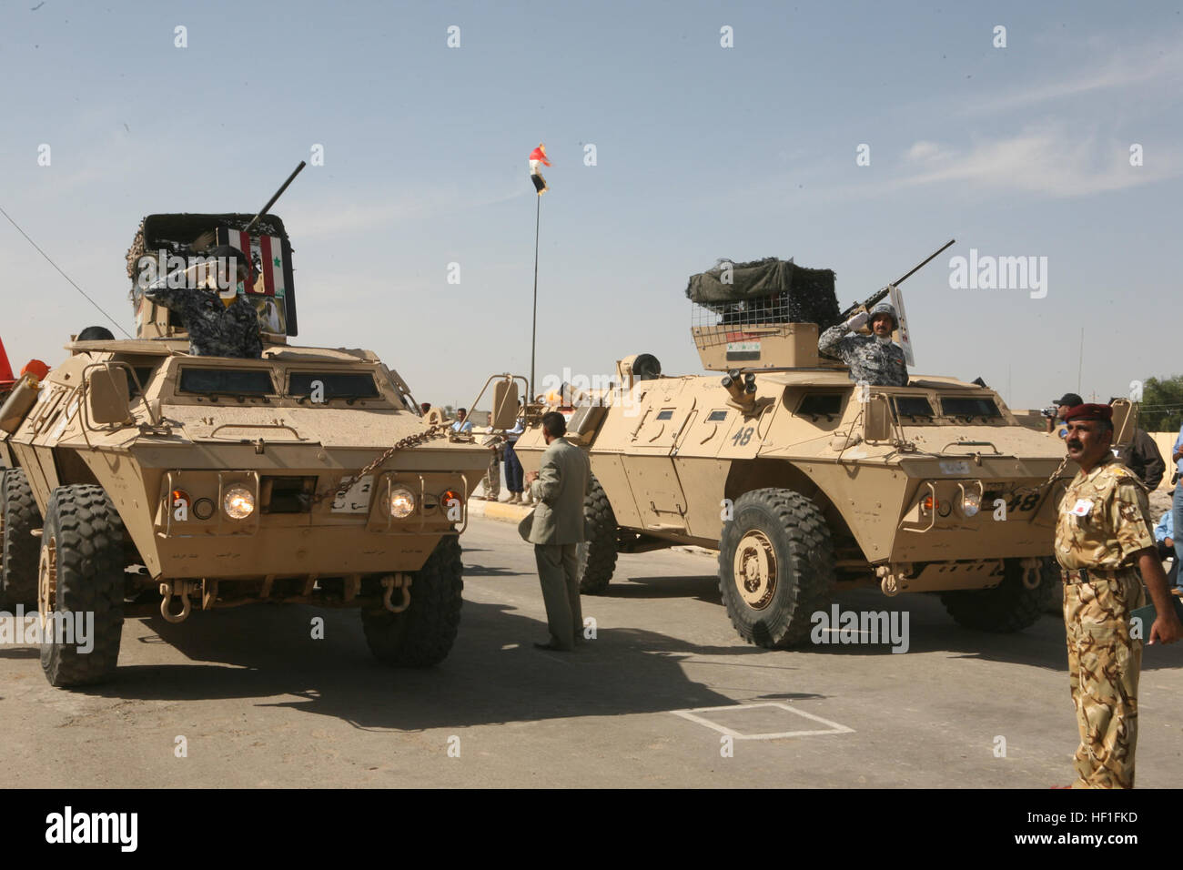 Iraqi Army Soldiers Drive Light Armored Vehicles In A Parade In Ar Ramadi  On October 23, 2007. The Parade Is For The Citizens Of Ar Ramadi, ...